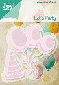 Noor! Design - Cutting & Embossingmal - Let`s Party - Ballonnen en muts