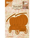 Joy! Crafts - Cutting & Embossing stencil - Wild West Huifkar