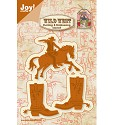 Joy! Crafts - Cutting & Embossing stencil - Wild West Cowboy te paard / laars