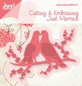 Noor! Design - Cutting & Embossing stencil - Just Married - Duiven