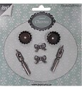 Joy! Crafts - Metal charms - Antiek zilver kroontjespen