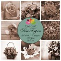 Dixi Craft - Vintage set - Flowers Sepia