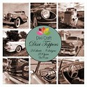 Dixi Craft - Vintage set - Cars Sepia