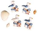 Rayher - embellishments - meeuwen en schelpen