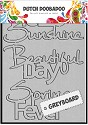 Dutch Doobadoo - Greyboard Art - Hello Sunshine A6