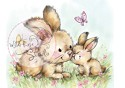 Clear stamp - Wild Rose Studio`s - Spring Bunnies