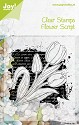Noor! Design - Clearstamps - Silhouettes - Flower Script