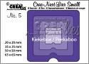 Stansmal - Crealies - no. 5 Kiekeboe vierkant CNLS05