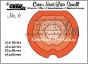 Stansmal - Crealies - no. 6 Kiekeboe rond CNLS06