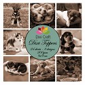 Dixi Craft - Vintage set - Puppys Sepia