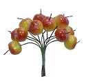 ScrapBerry`s - Appleas, yellow and red, 12 pcs
