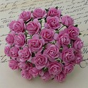 WOC Flowers - Pink Mullberry Paper Roses - 15mm