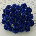 WOC Flowers - Royal Blue Mullberry Paper Roses - 15mm