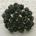 WOC Flowers - Olive Green Mullberry Paper Roses - 10mm