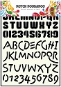 Dutch Doobadoo - Dutch Stencil Art - Alphabet 4