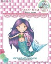 Rubber stamp - Paper Nest Dolls - Mermaid with Seahorse