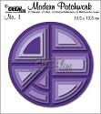 Stansmal - Crealies -  Modern Patchwork - no. 1 rond