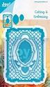 Noor! Design - Cutting & Embossingmal - Blauwe mal - Rechthoek frame + inhoud