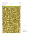 CraftEmotions - Glitterpapier - Goud - 120gr/5vel
