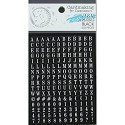 Ruby Rock-it! - Fundamentals Alphabet Stickers 432/Pkg - White on Black