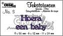 Crealies - Tekststans - Hoera een baby (NL)