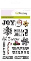 Clearstamp CraftEmotions - Sweet Vintage Christmas - Kerst tekst UK
