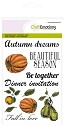 Clear stamp - CraftEmotions - Autumn Woods - Pompoen / appel / peer