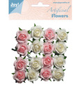 Joy! Crafts - Artificial Flowers - wit/roze