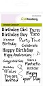 Clear stamp - CraftEmotions - A6 tekst ENG Birthday