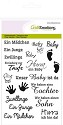 Clear stamp - CraftEmotions - A6 tekst DE Baby