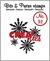 Clearstamp Crealies - Bits & Pieces - No 32 Snowflake