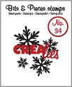 Clearstamp Crealies - Bits & Pieces - No 34 Snowflake