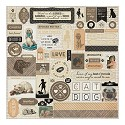 Stickers Authentique - Devoted - Cardstock Stickers 12