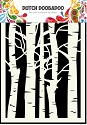 Dutch Doobadoo - Dutch Mask Art A5 - Birch Trees