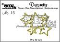 Stansmal - Crealies - Decorette no 13 - Sterren in elkaar