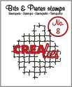Clearstamp Crealies - Bits & Pieces - No 8 Broken Mesh