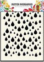 Dutch Doobadoo - Dutch Mask Art - A6 Rain drops