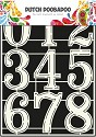 PRE-ORDER 5 - Dutch Doobadoo - Dutch Stencil Art - Numbers 2