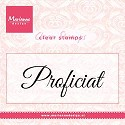 Clearstamp Marianne Design - Proficiat