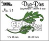 Crealies Duo Dies no. 31 blaadjes 1 23x70mm-17x50mm / CLDD31