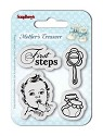 Clearstamp ScrapBerry`s - Set of Stamps - Mother`s Treasure - First Steps