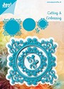 Noor! Design - Cutting & Embossing stencil - Blauwe mal - Vierkant
