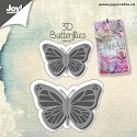 Joy! Crafts - Cutting & Embossing stencil - 3D Vlinders