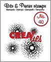 Clearstamp Crealies - Bits & Pieces - No 40