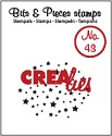 Clearstamp Crealies - Bits & Pieces - No 43