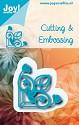Noor! Design - Cutting & Embossing stencil - Blauwe mal - Hoekje
