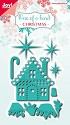 Noor! Design - Cutting & Embossing Stencil - One of a Kind - Kerstset huisjes (