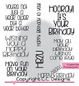 Stempel C.C. Designs - Sentiments - Birthday Wishes Sentiments