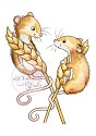 Clearstamp - Wild Rose Studio - Harvest Mice