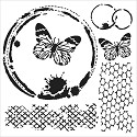 Mask Stencil - Crafter`s Workshop - Butterfly Collage
